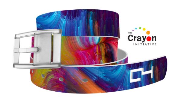 C4 Crayon Swirls Classic Belt